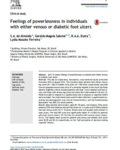 Feelings of powerlessness in individuals